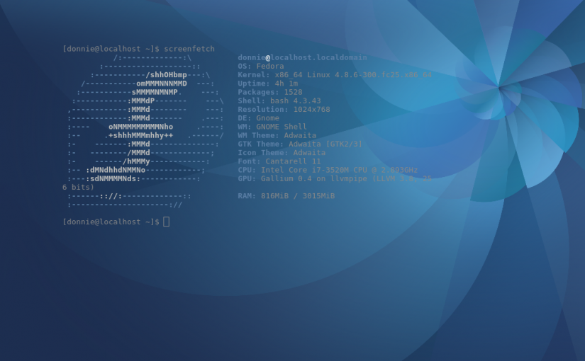 Embed a terminal into your Fedora 25 XFCE desktop
