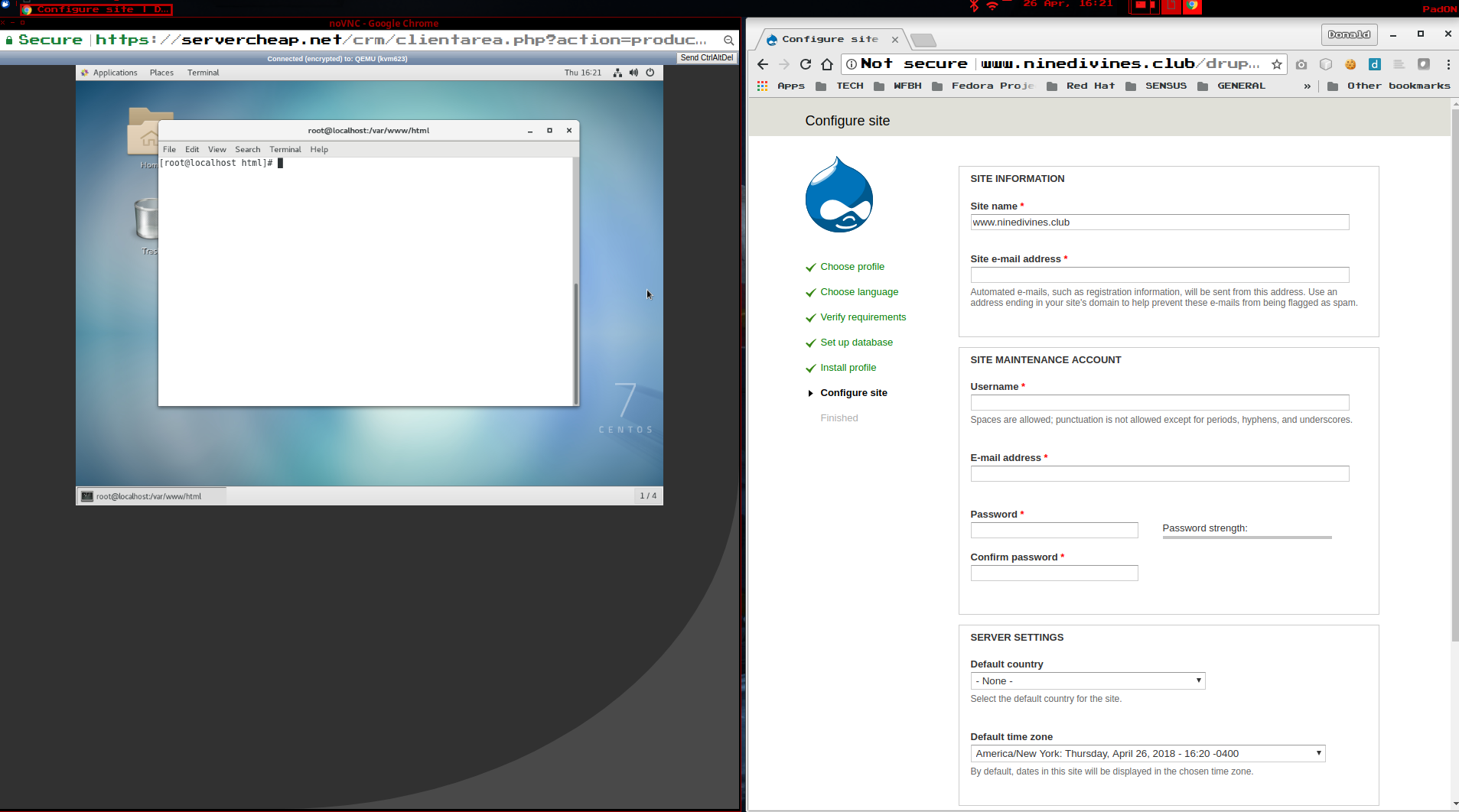Installing Drupal 7 on CentOS 7 Linux VPS – Donnie_IO